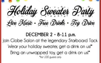 Join Globe Salon for a Holiday Party + Toy Drive, December 2!
